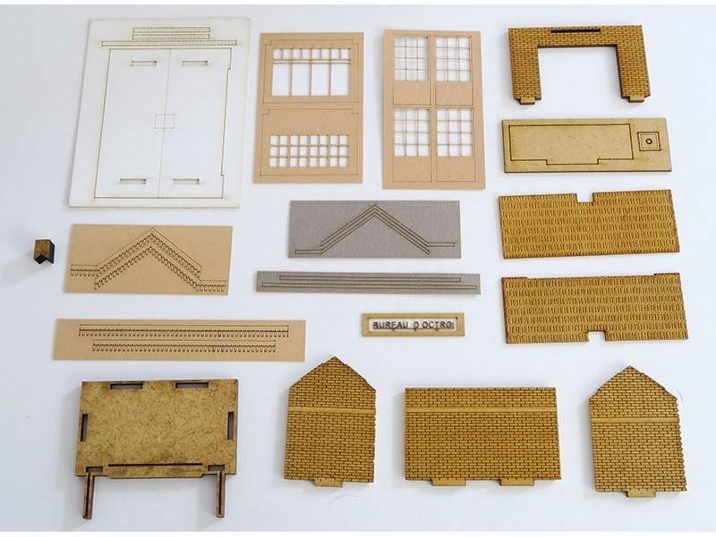 Bureau d'octroi – kit – 1/87éme