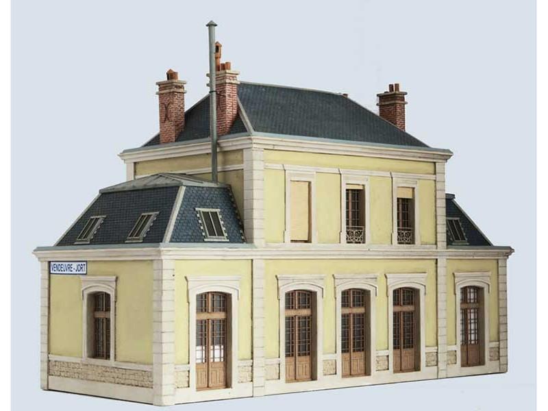 MODÈLE RÉDUIT - GARE DE VENDEUVRE-JORT (Bâtiment seul)