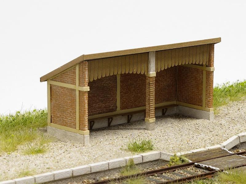 Modèle réduit - Abri de quai - gare de Lusigny – KIT – 1/87ème